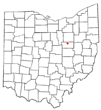 Holmesville, Ohio - Image: OH Map doton Holmesville