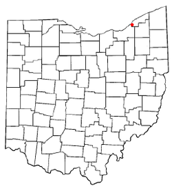 Location of Wickliffe, Ohio