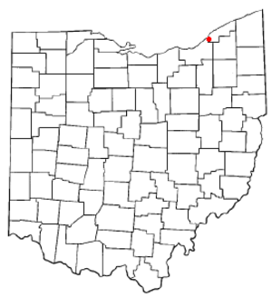 Wickliffe, Ohio - Image: OH Map doton Wickliffe