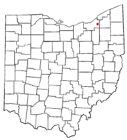 Location of Woodmere in Ohio