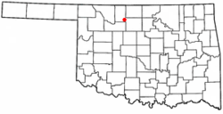Location of Goltry, Oklahoma