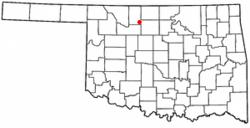 Location of Goltry, Oklahoma