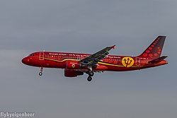 Brussels Airlines Airbus A320-200 i Red Devils-målning
