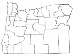 Location of Garden Home-Whitford, Oregon