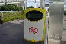 Kaartlezer op Station Amsterdam Zuid