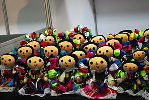 Traditional Mexican handcrafted toys - Oaxacan style rag dolls