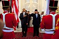Obama and Susilo Bambang Yudhoyono in arrival ceremony.jpg