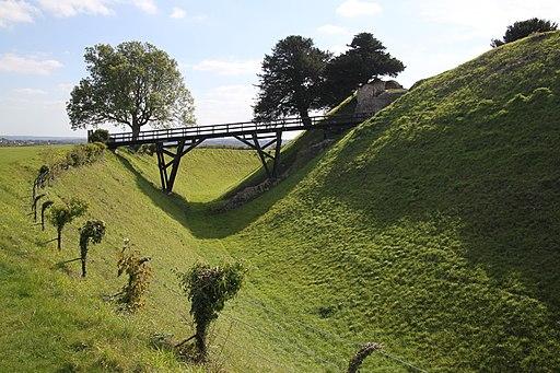 Old Sarum castle ditch