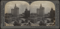 Old and New City Halls and World Building, from City Hall Park, New York City, from Robert N. Dennis collection of stereoscopic views.png
