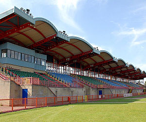 Cardiff Athletics Stadium - Photo of the interior of the old Leckwith Athletics Stadium (photo taken by: Daniel Goddard)