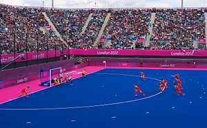Penalty corner - Penalty corner for China against South Korea during London Olympics 2012