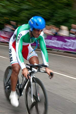 Iran at the 2012 Summer Olympics - Alireza Haghi in men's time trial.