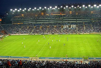Football in France - Ligue 1 match between Marseille and Strasbourg in 2006.