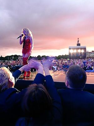 "Kylie Summer 2015 - Minogue performing ""On a Night Like This"" at her gig in Haydock Park."
