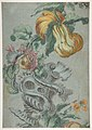 Ornamental Design with Fruit and Flowers (recto); Flower Stalk with Leaves (verso) MET DP812020.jpg