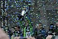 Osvaldo Alonso lifting the MLS Cup at Sounders Rally.jpg