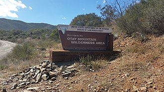 Otay Mountain Wilderness - BLM sign on Otay Mountain Truck Trail