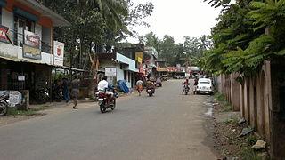 Kattakada Town in Kerala, India