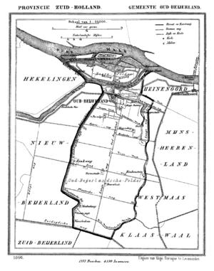 Oud-Beijerland - Oud-Beijerland in 1866