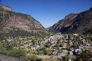 Ouray, Colorado - Ouray, Colorado looking north from Highway 550