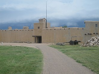 William Bent - A view from outside Bent's Old Fort (reconstruction)