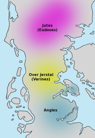 Angles - Possible locations of the Angles and Jutes before their migration to Britain.