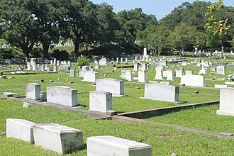 Adams County, Mississippi - A portion of the historic Natchez City Cemetery in Adams County