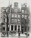 overzicht gevel grachtenhuis - amsterdam - 20319360 - rce