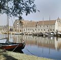 Overzicht van de gevels aan de Oosterhaven met onder andere het Peperhuis - Enkhuizen - 20379711 - RCE.jpg