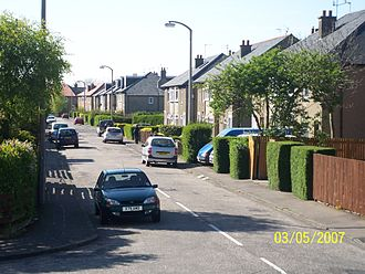 Oxgangs - Colinton Mains Grove, a street which lies in the neighbouring housing scheme of Colinton Mains
