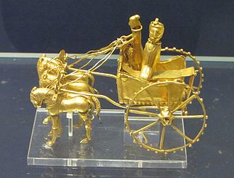 Military history of Iran - A golden chariot made during Achaemenid Empire (550–330 BC).