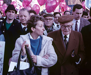 Radical Party (Italy) - Emma Bonino with Italian President Sandro Pertini, 1985
