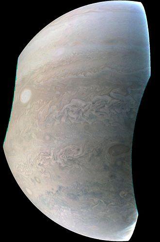 JunoCam - Image: PIA21219 Juno Captures Jupiter 'Pearl'