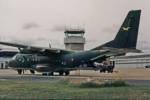 Papua New Guinea Defence Force - A PNGDF CN-235 at RAAF Fairbairn in Australia