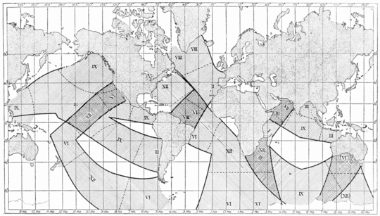 PSM V74 D535 Systems of semi daily tides around the world based on gmt.png