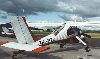 PZL-104 Wilga - PZL 104 Wilga 35A at Taupo airfield, New Zealand, in February 1992 showing rear cabin glazing arrangement