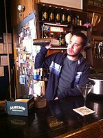 Pacific Standard owner preparing Santorum cocktail drink 03.JPG