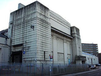 British Empire Exhibition - The Palace of Industry building being used as warehousing before it was partially demolished in 2006. The remainder of the building is used for warehousing and small industrial units.