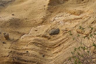 Palagonite - Palagonite layers at Moya Beach, Mayotte.