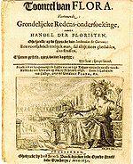 Pamphlet néerlandais critiquant la tulipomanie, imprimé en 1637, à la suite de l'effondrement des cours