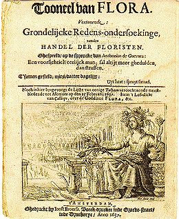 Pamphlet From The Dutch Tulipomania Printed In 1637