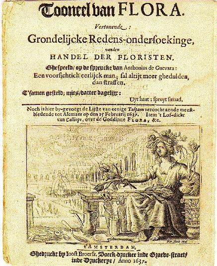 Pamphlet dutch tulipomania 1637