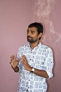 Pankaj Deo during presentation-Outreach program in Janakpur, Nepal-IMG 6862.jpg