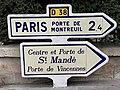 Panneaux Michelin Direction Avenue Général Gaulle - Saint-Mandé (FR94) - 2020-10-16 - 1.jpg