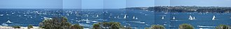 Sydney to Hobart Yacht Race - Panorama of the 2007 Sydney–Hobart Yacht Race.