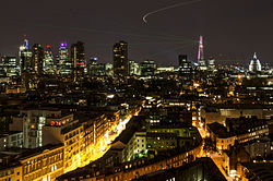 Panorama of City of London during The Shard's opening laser show.jpg