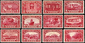 Parcel post - U.S. Parcel Post stamps of 1912-13