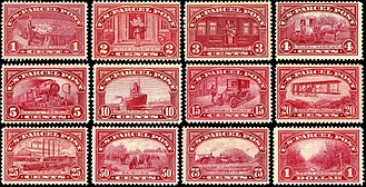 Clair Aubrey Houston - First Parcel Post stamps issued by the U.S. Post Office, 1912-13