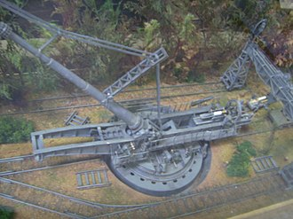 Paris Gun - Model of a Paris Gun on its fixed mounting, Wehrtechnische Studiensammlung Koblenz