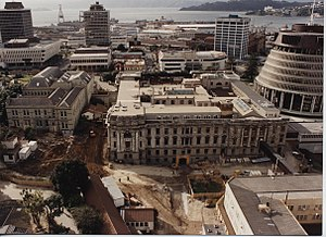 Parliament House, Wellington - Restoration of Parliament House, 31 August 1992